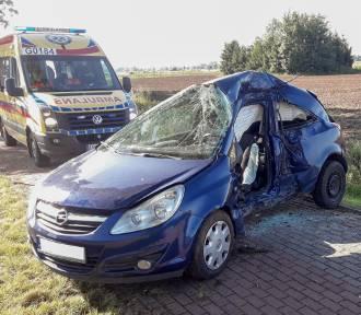 Wypadek w Marezie. Ranna 20-latka, w akcji helikopter LPR [ZDJĘCIA]
