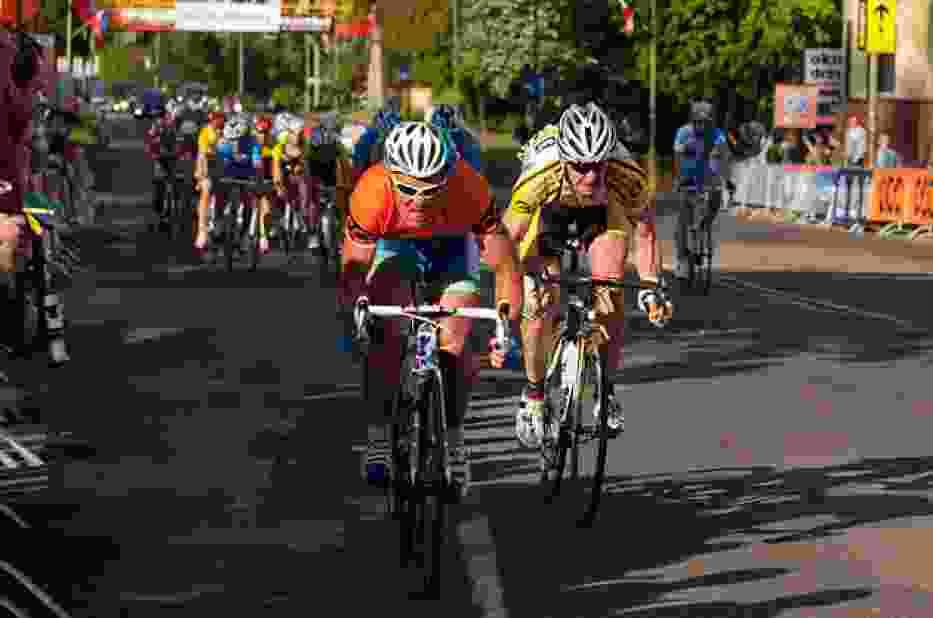 Po przyjeździe do Legnicy kolarze mieli do przejechania 3 pętle ulicami miasta, każda po 3 km