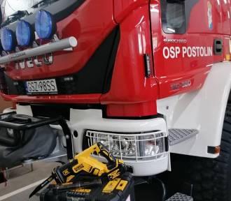 Strażacy z Postolina otrzymali przydatny sprzęt dzięki pomocy mieszkańcow