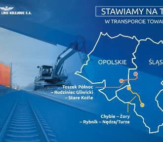 Towary na torach. PKP Polskie Linie Kolejowe S.A. modernizują dwie ważne linie kolejowe