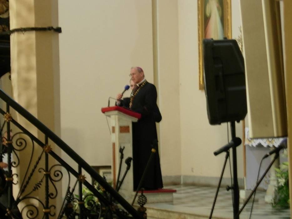 Biskup Alojzy Mering skierował kilka słów do podopiecznych i przybyłych gości