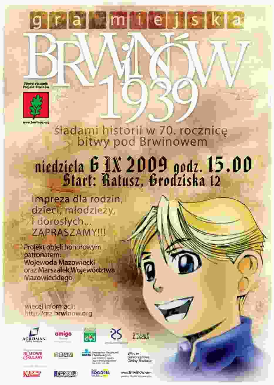 """Gra miejska """"Brwinów 1939"""""""