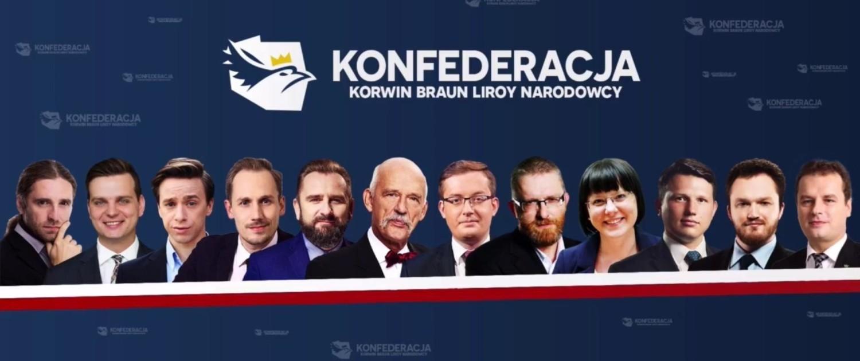 Konfederacja KORWiN, Liroy, Braun, Narodowcy - 5,5 proc.
