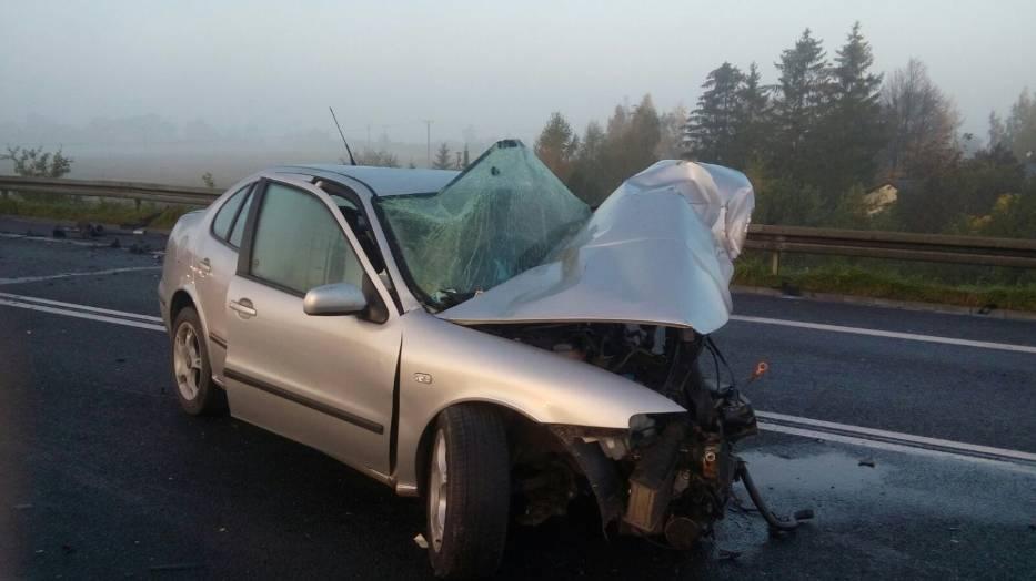 Służby informują o wypadku, do którego doszło dzisiaj około godziny 7 rano