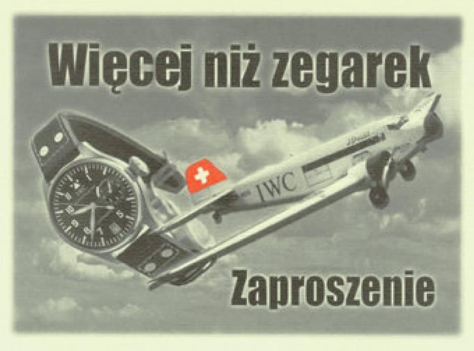 Reklama zegarków IWC linii Big Pilot