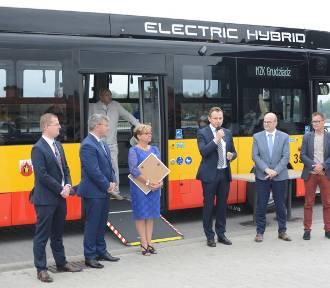 Hybrydowe autobusy są już w Grudziądzu. Wkrótce wyjadą na ulice [wideo, zdjęcia]