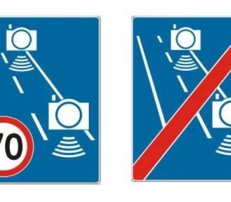 Nowe znaki będą informować o odcinkowym pomiarze prędkości