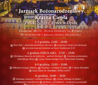 Jarmark Bożonarodzeniowy w Opolu. Atrakcji nie zabraknie!