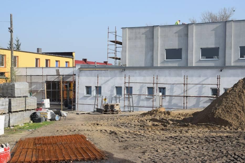 Trwa budowa sali gimnastycznej w Szkole Podstawowej w Głuchowie