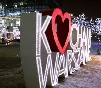Wyznawali miłość ze szczytu Warsaw Spire. Nietypowe życzenia walentynkowe