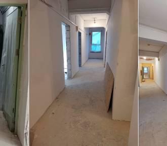 Na najwyższym, 8 piętrze biurowca SARL, trwa generalny remont