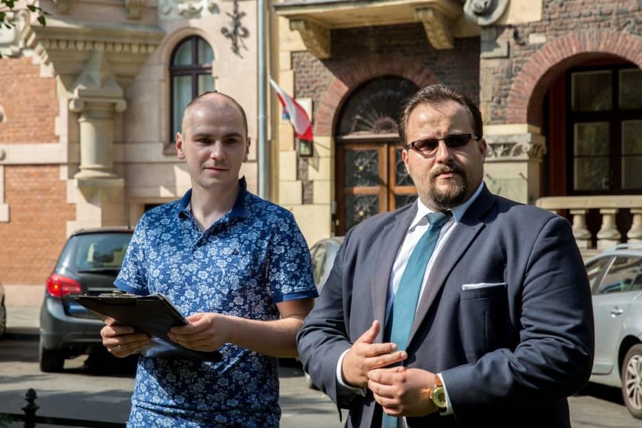 Szymon Bałek, skazany za blokowanie w grudniu 2016 r