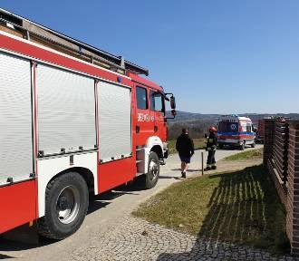 Dramatyczny wypadek w Gromniku. Dwuletni chłopiec nie żyje