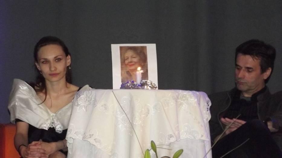 Punkt centralny sceny -miejsce poświęcone Wisławie Szymborskiej