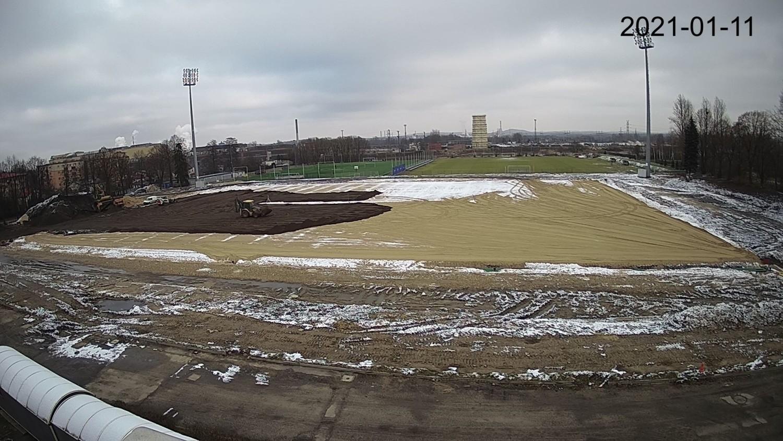 Tak stadion Rakowa Częstochowa wyglądał 11 stycznia 2021 roku