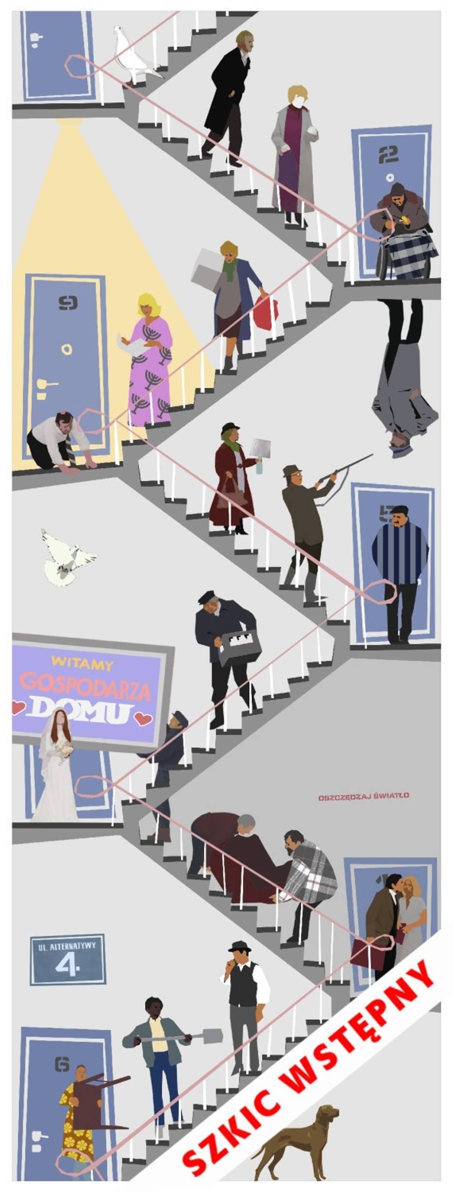 Alternatywy 4 fani serialu i mieszka cy ursynowa chc for Mural alternatywy 4