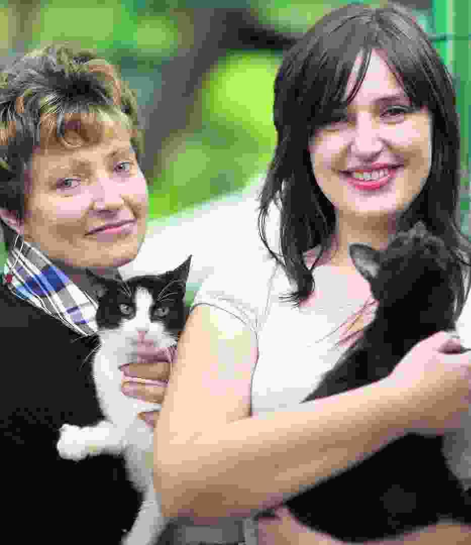 Katarzyna Eksztajn i jej córka Anna Midzio od lat pomagają pensjonariuszom konstancińskiego Kociego Azylu