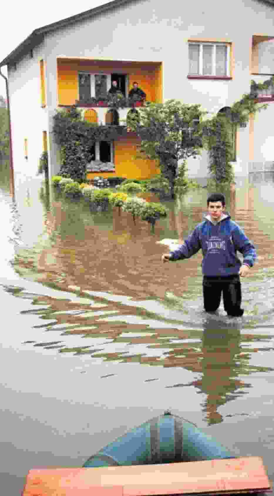 Woda uszkodziła wiele domów
