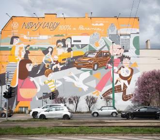 Kolejny mural w Poznaniu. Tym razem na skrzyżowaniu ul. Garbary i Estkowskiego