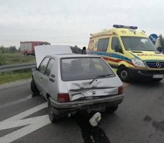 Zderzenie trzech aut w Stawiszynie [FOTO]