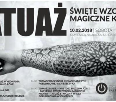 Tatuaż święte Wzory Magiczne Kropki Miejski Ośrodek