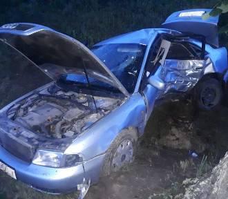 Wypadek na trasie Wandowo-Krzykosy [ZDJĘCIA]