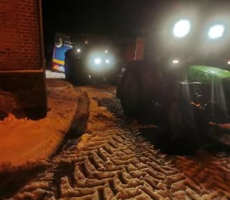Zimowa aura przynosi trudne warunki - niecodzienne zdarzenie w Starym Targu