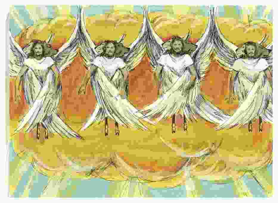 Księga Ezechiela, Rozdział 1-1, Ilustracje do biblii