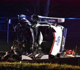 Wypadek z udziałem karetki na K92 w Grońsku [ZDJĘCIA][NOWE INFORMACJE