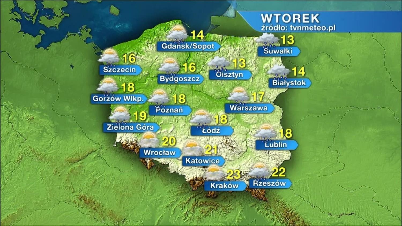 Jaka będzie pogoda we wtorek, 19 maja?