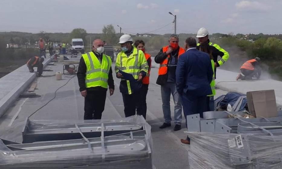 Budowa mostu na Wisłoku w Odrzykoniu