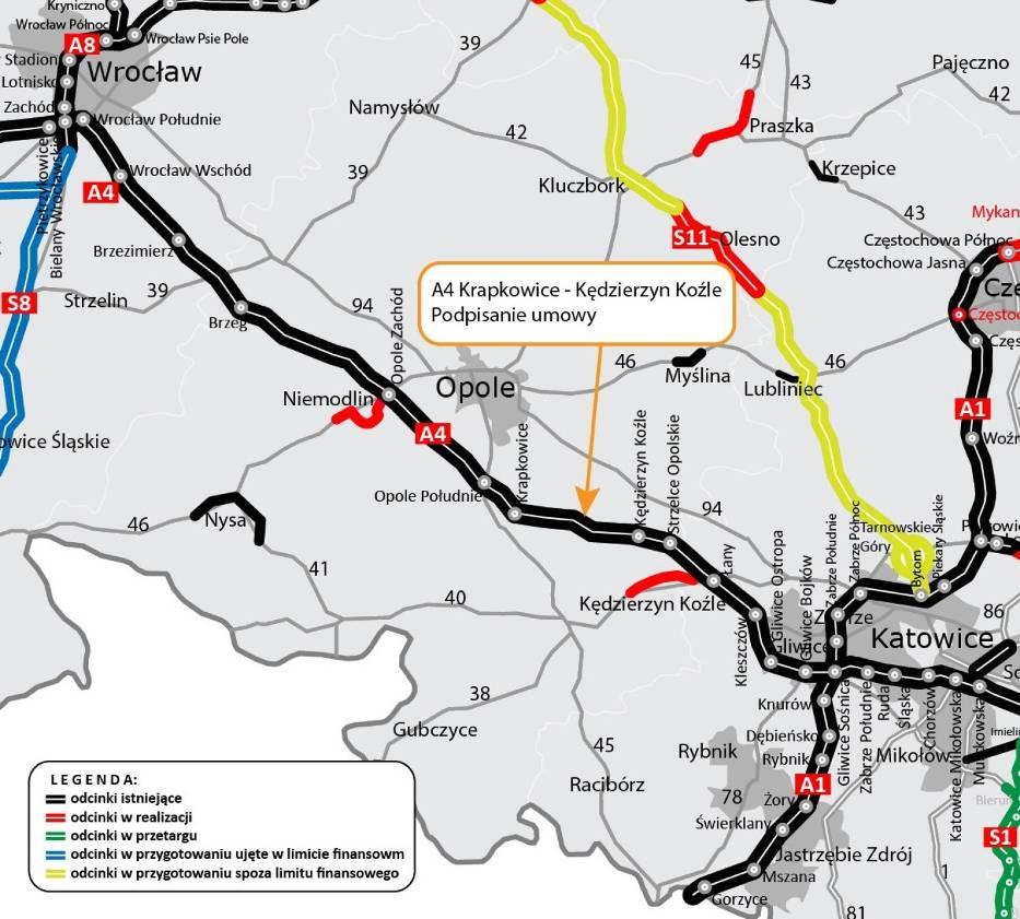 Opolski oddział GDDKiA systematycznie remontuje autostradę A4 od 2015 roku