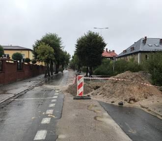 Człuchów. Roboty drogowe związane z budową kanalizacji deszczowej potrwają do końca października