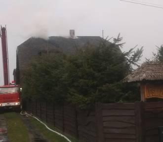 Pożar domu mieszkalnego w Lipcach Reymontowskich [ZDJĘCIA]