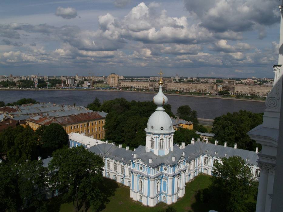 Panorama miasta z Katedry Smolnej