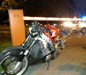 Wypadek w Katowicach. Motocyklista potrącił rowerzystę na Złotej... i zbiegł zostawiając motocykl