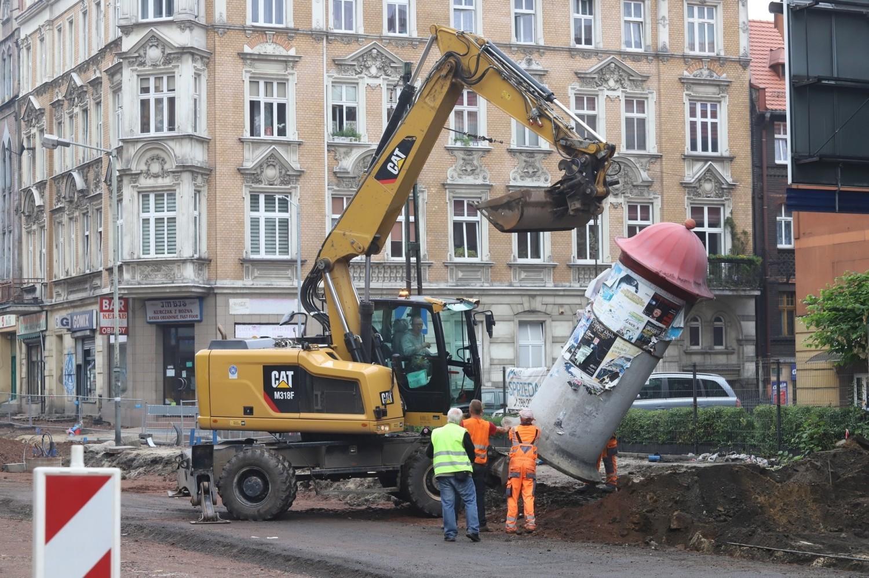 Trwa przebudowa ulicy 3 Maja w Chorzowie