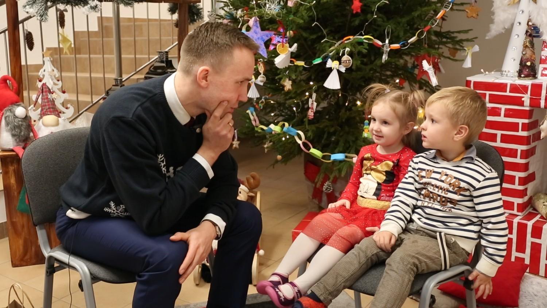 Przedszkole nr 1 Władysławowo - burmistrz rozmawiał z przedszkolakami
