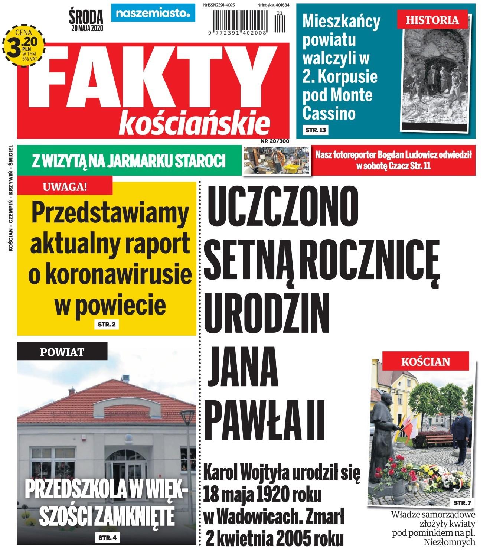 """Zapraszamy do lektury nowych """"Faktów Kościańskich"""" ZAPOWIEDŹ"""