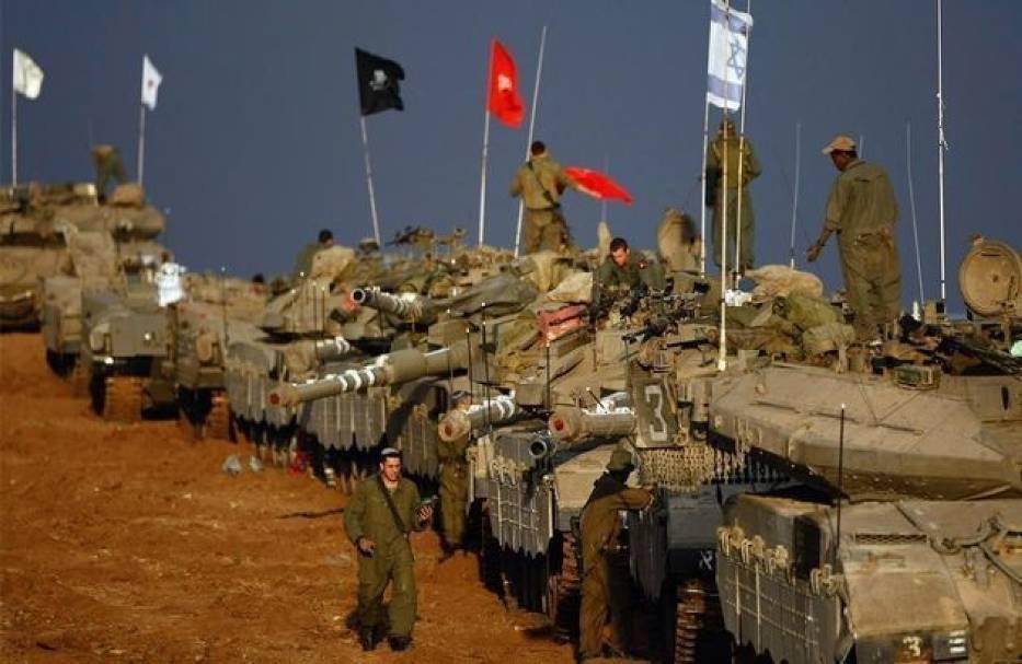 Izraelskie kolumny pancerne stoją już na granicy ze Strefą Gazy
