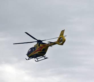 Wypadek w parku trampolin. Ranną dziewczynkę zabrał helikopter