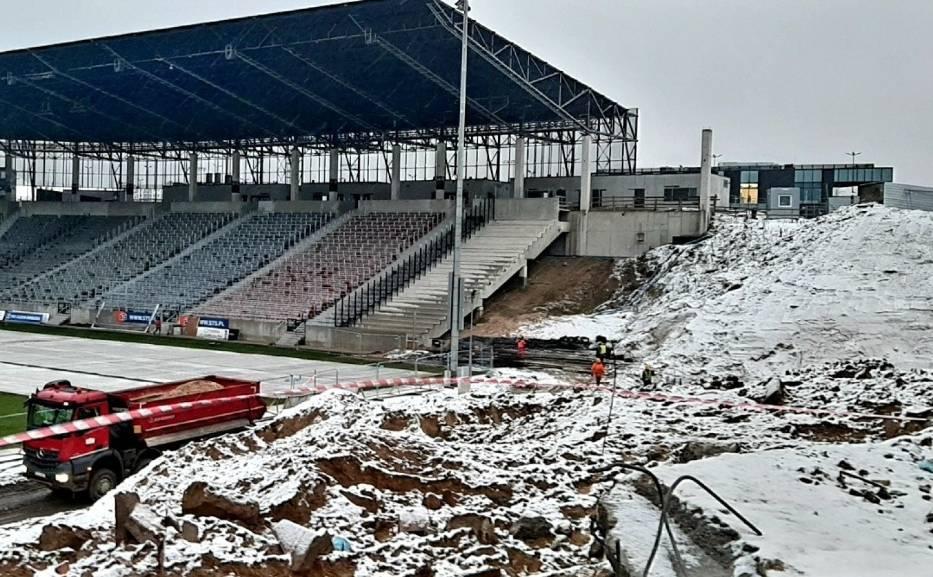 Stadion Pogoni - stan na 12 stycznia 2021