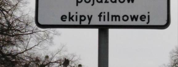 Zakaz parkowania, filmowcy, Wrocław.