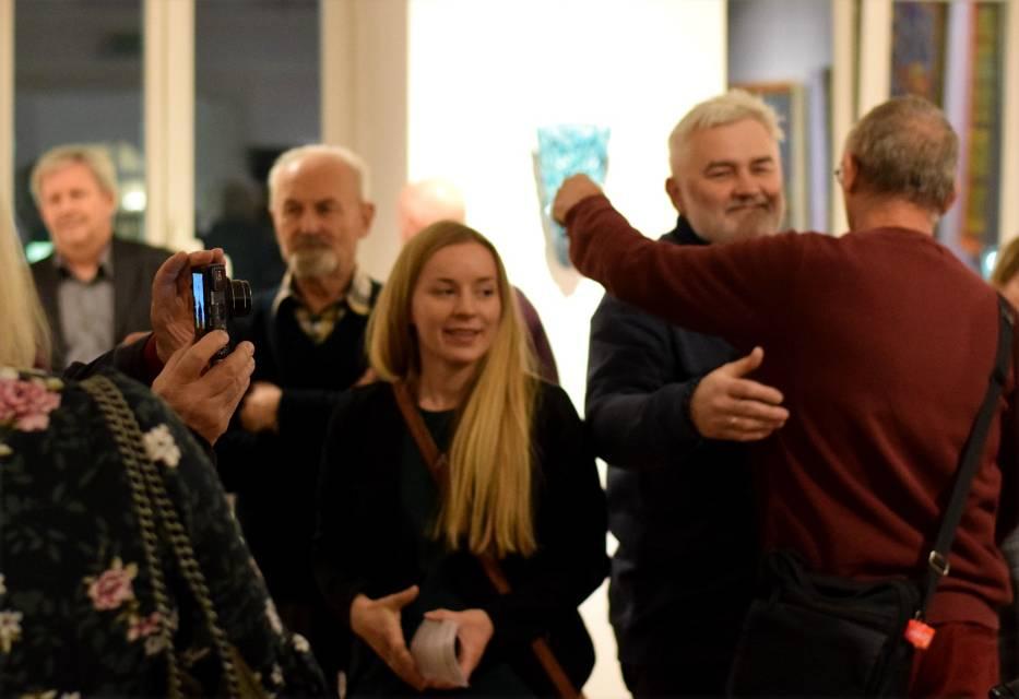 Na wernisażu spotkali się artyści, których prace były wystawiane w galerii w kończącym się roku