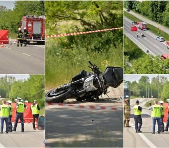 Śmiertelny wypadek na DK 10. Nie żyje młody motocyklista [zdjęcia, nowe informacje]