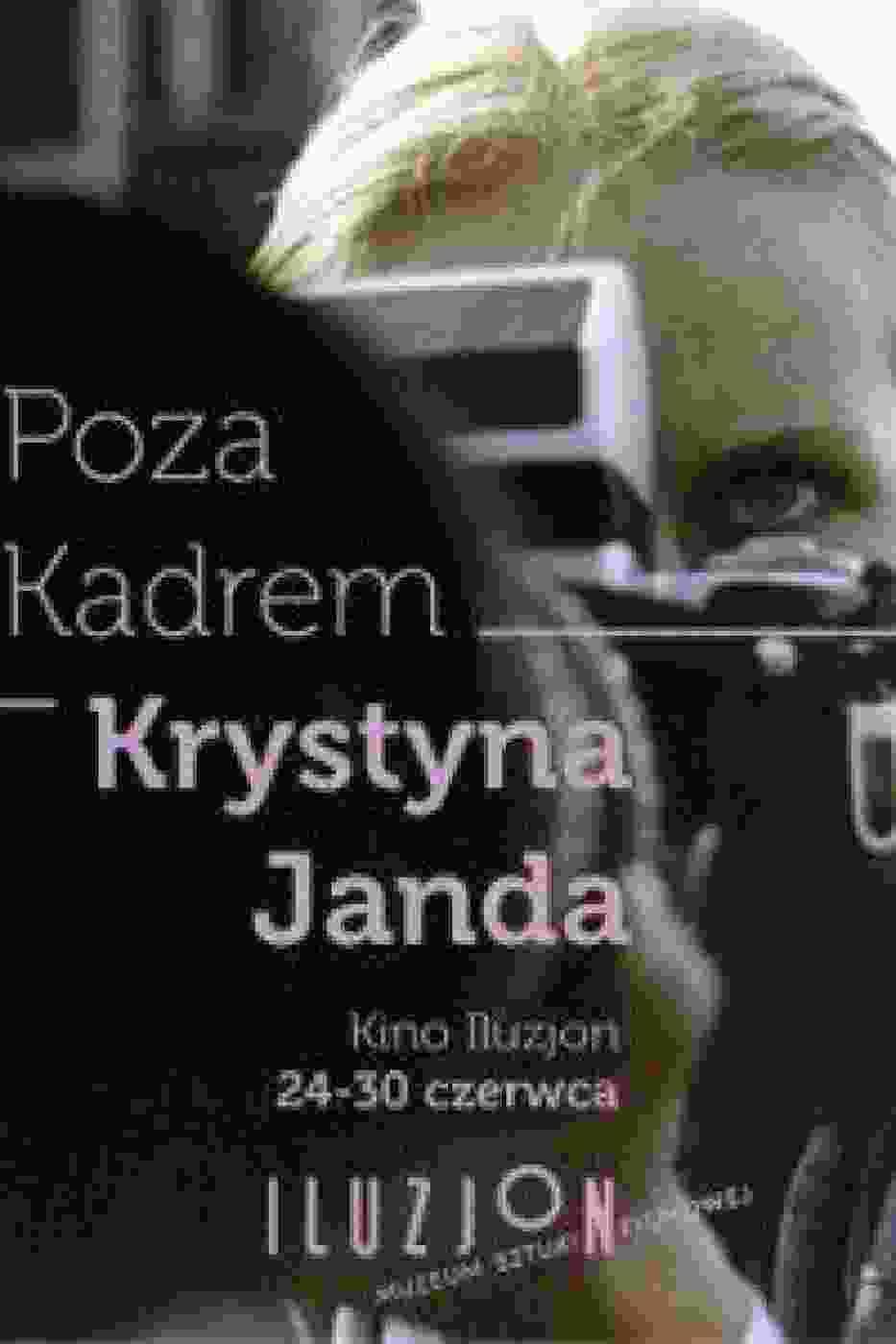 """Plakat przeglądu w Iluzjonie """"Poza Kadrem"""""""