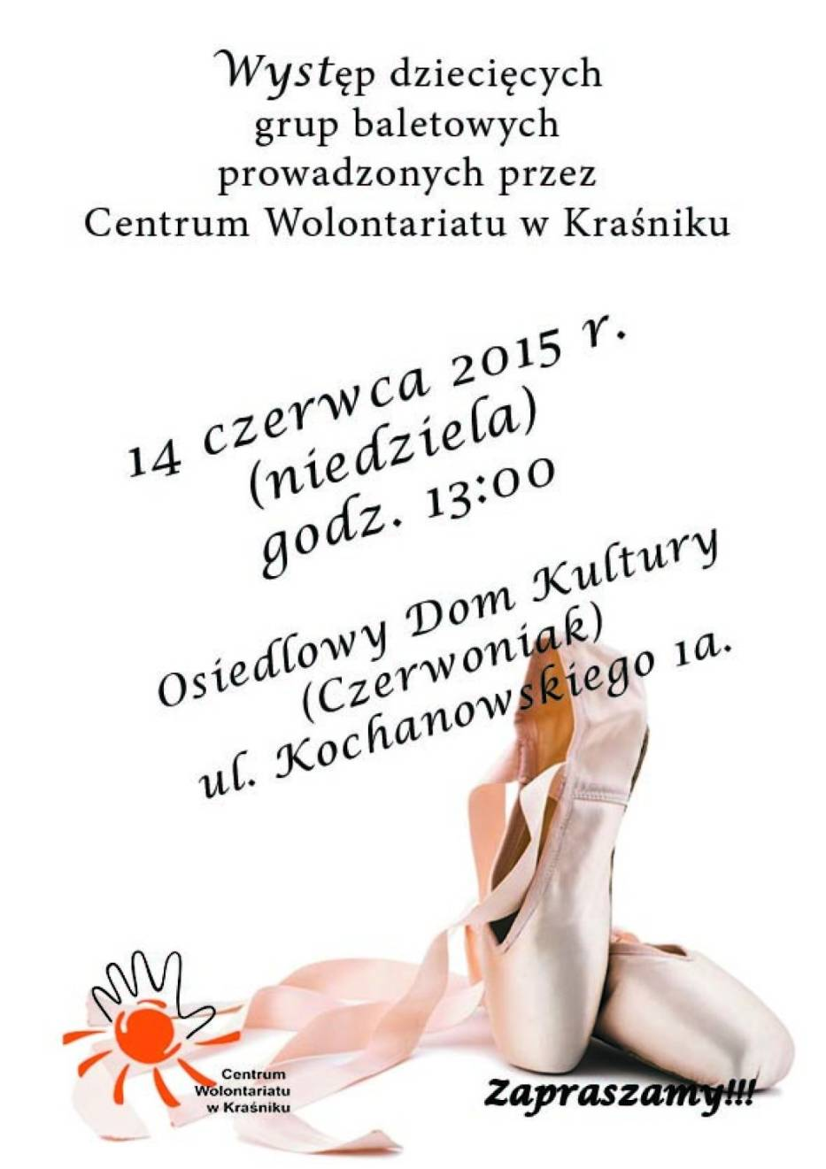 Występ baletowy w Kraśniku