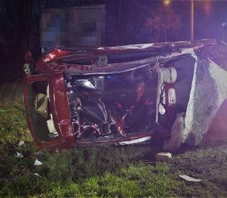 Samochód dachował w Mikołowie. Za kierownicą pijany 33-latek z Zabrza