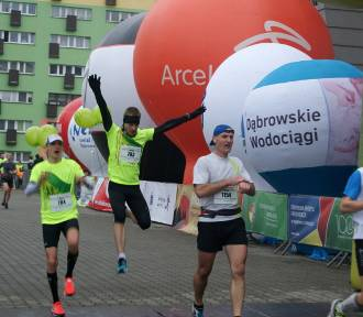 IX Półmaraton Dąbrowski: 1146 biegaczy i prawie 200 zawodników z kijkami. Zobaczcie się! [ZDJĘCIA]