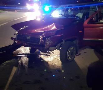 Wypadek na ulicy Kościuszki w Zawierciu FOTO